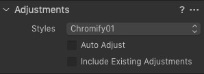 Adjustments Import Panel in Capture One