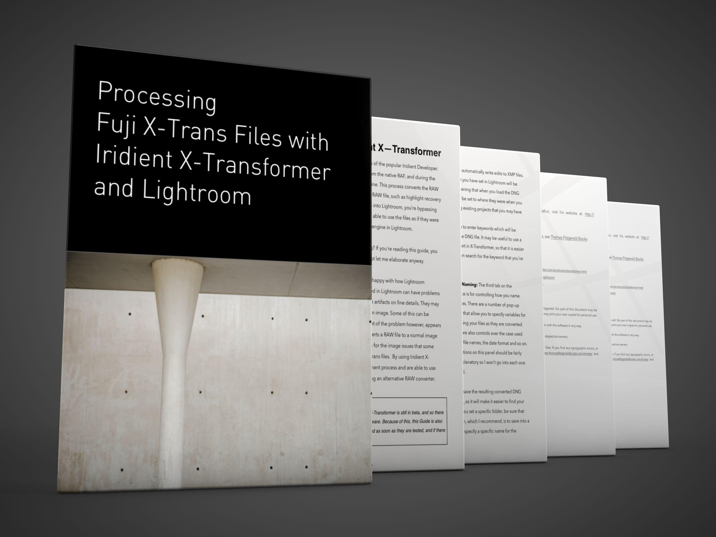 Processing Fuji Raw files with Iridient X-Transformer