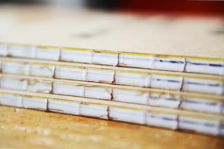 Buchbindung - mit passender Fadenheftung.
