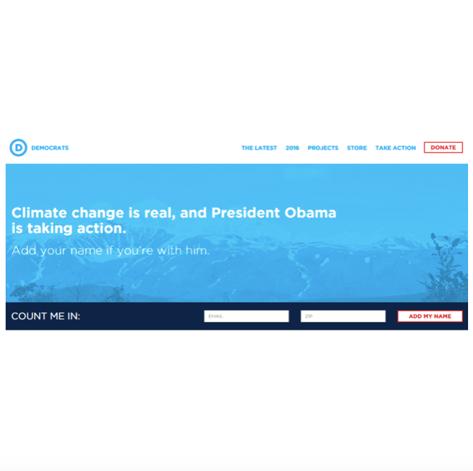 Following the 2014 midterms, democrats.org underwent a major overhaul. I wrote both content and code for the site.