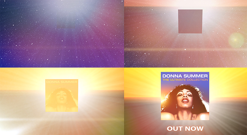 Flex Animation modelled and rigged simple neon beams to help replicate past album artwork