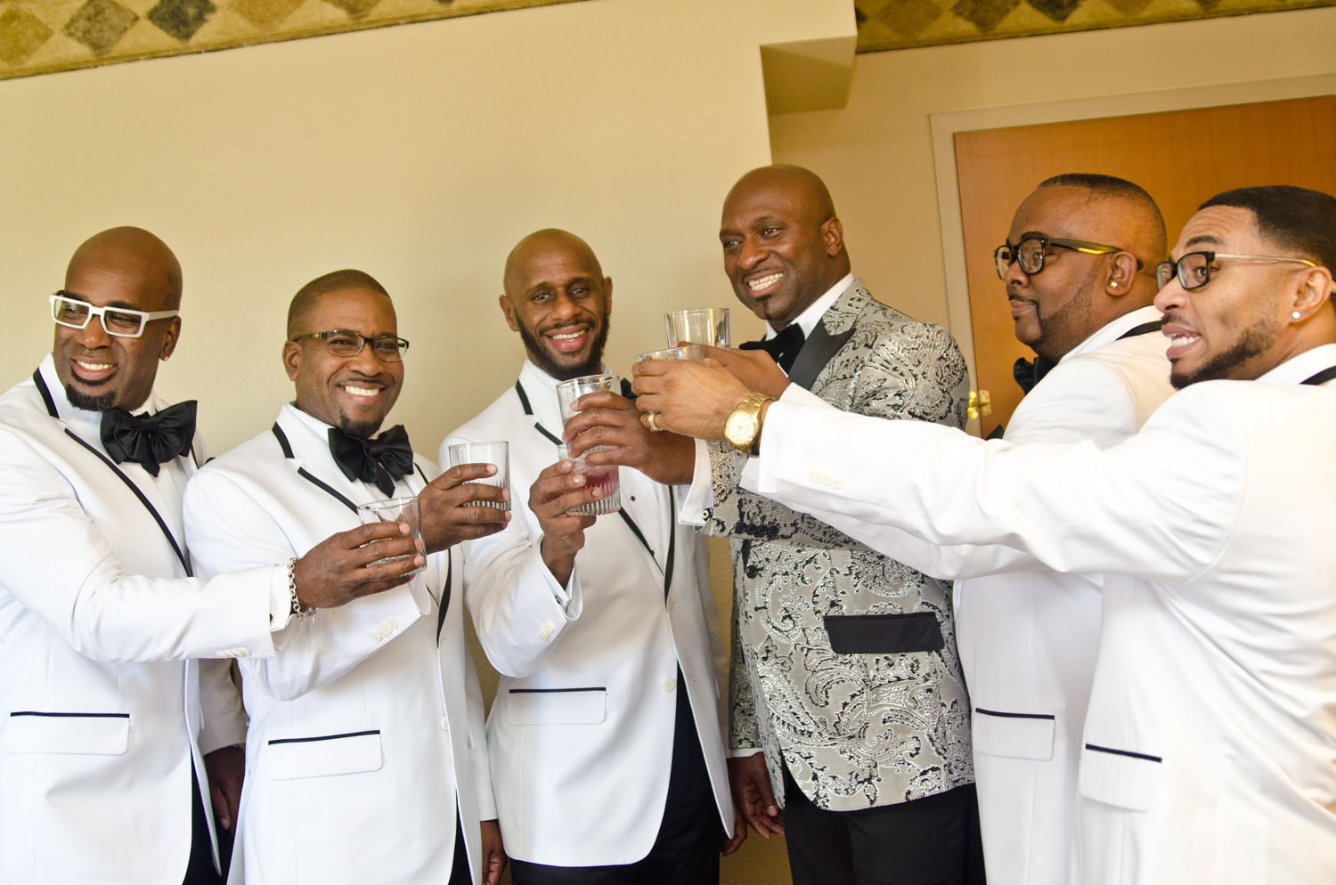 Groomsmen Having a Toast