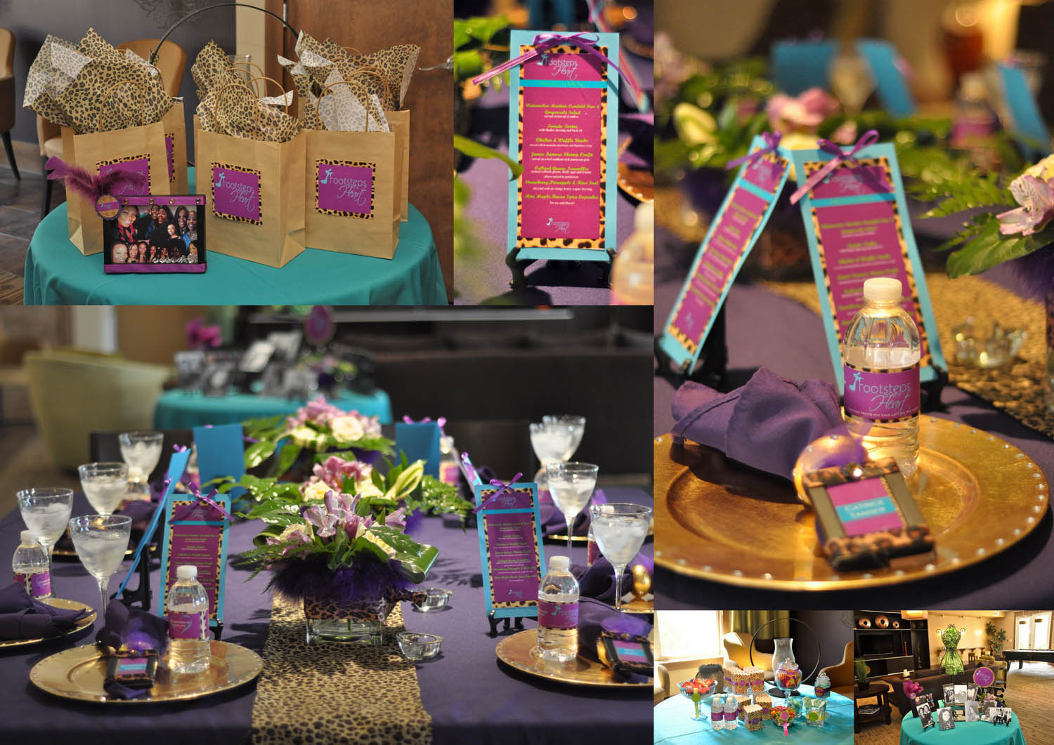 tablescape purple party intimate dinner with friends
