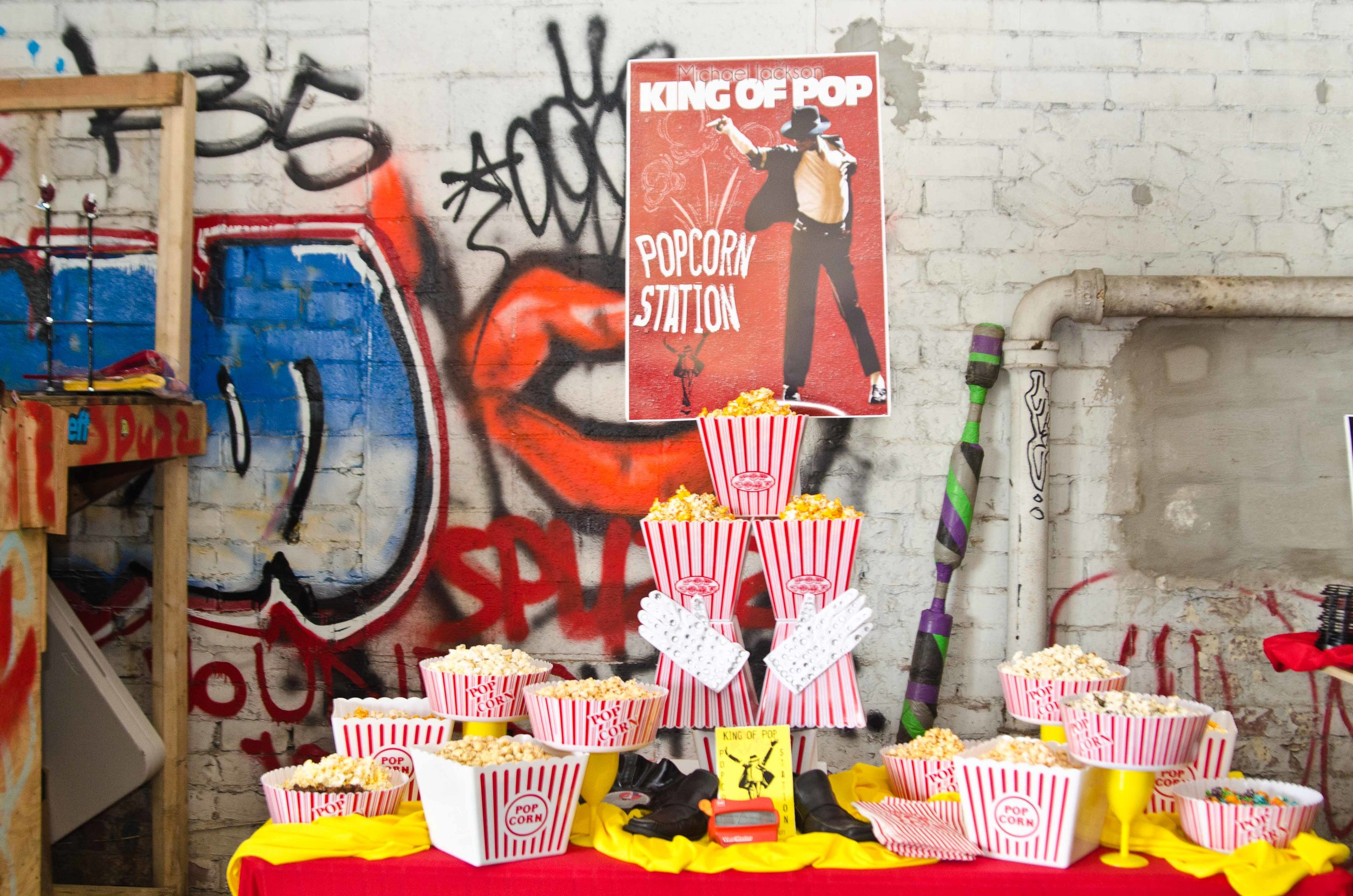Michael Jackson popcorn station