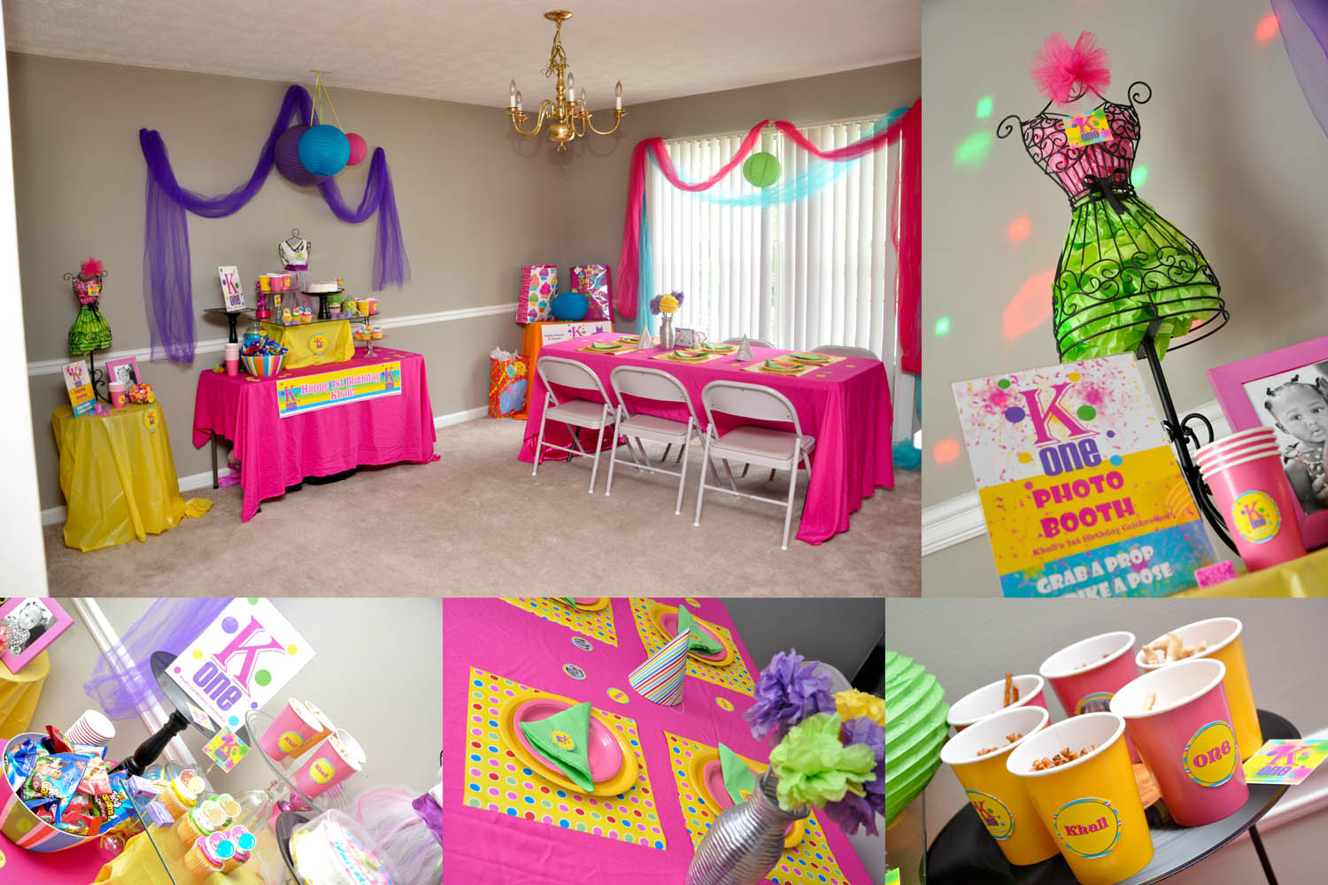 girl 1st birthday party