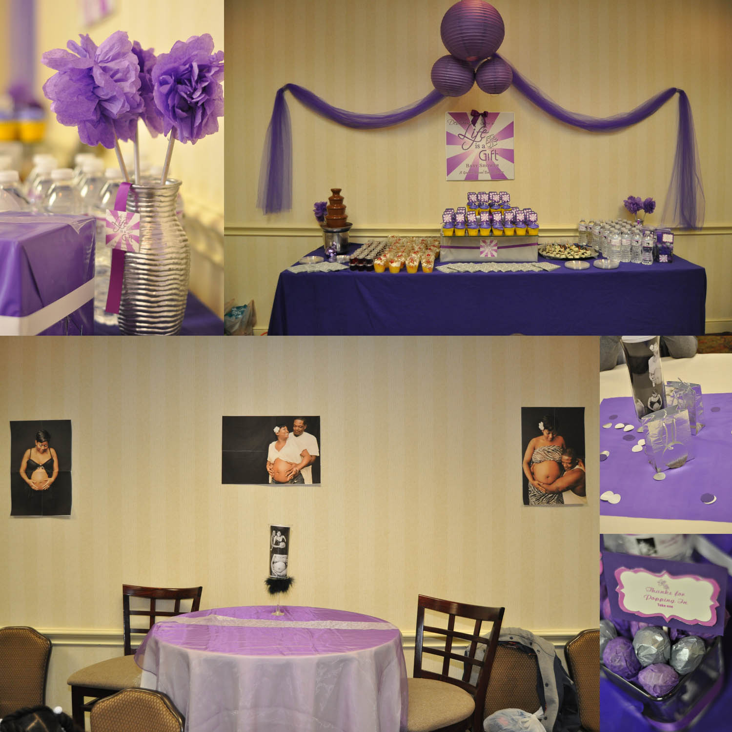 Life is a Gift - Purple Baby Shower