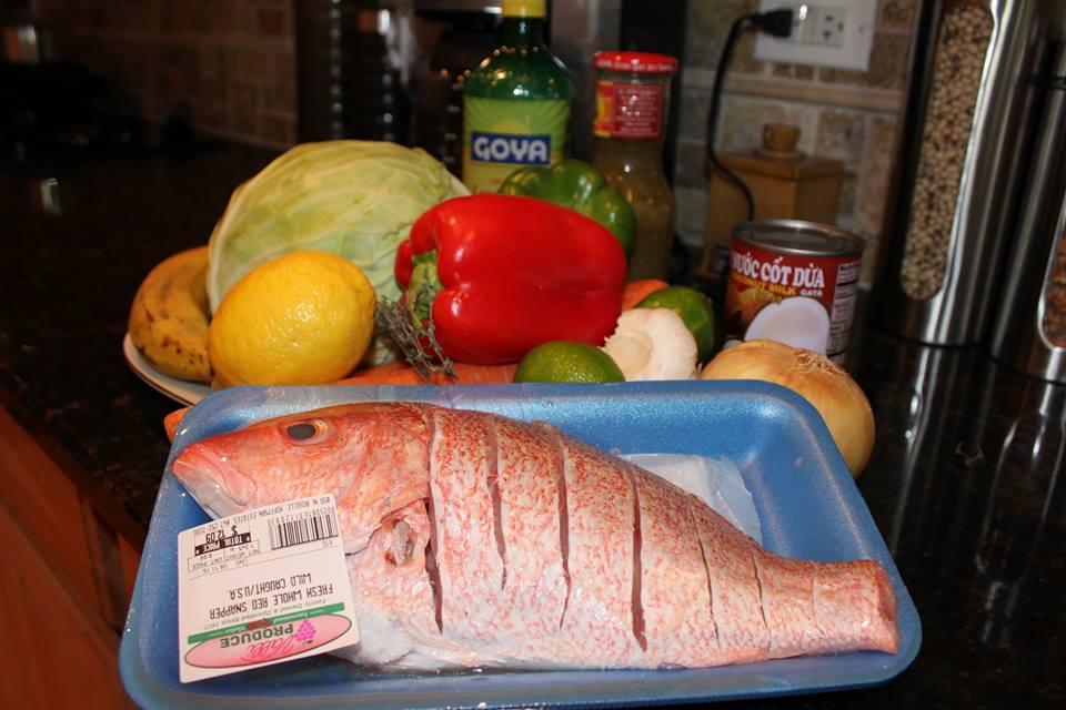 Jamican Escovitch Prep Food