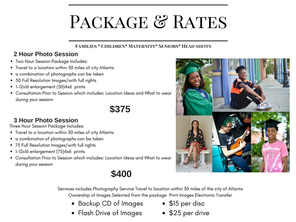 Packages and Rates - Kustom Kreation Photography