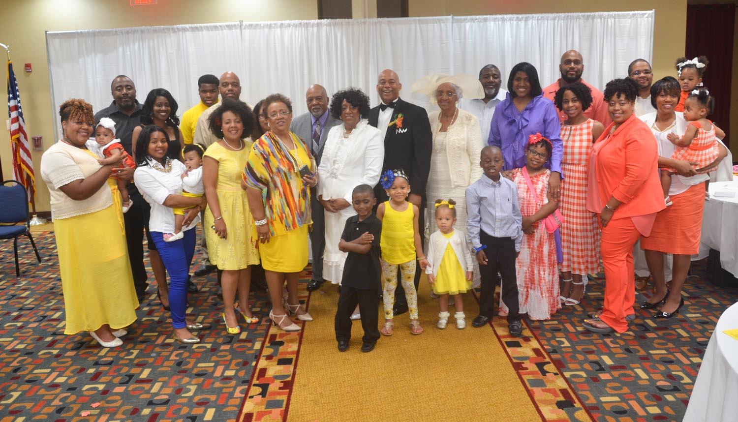 The Beautiful Family including parents and offsprings grandchildren and extended family members.