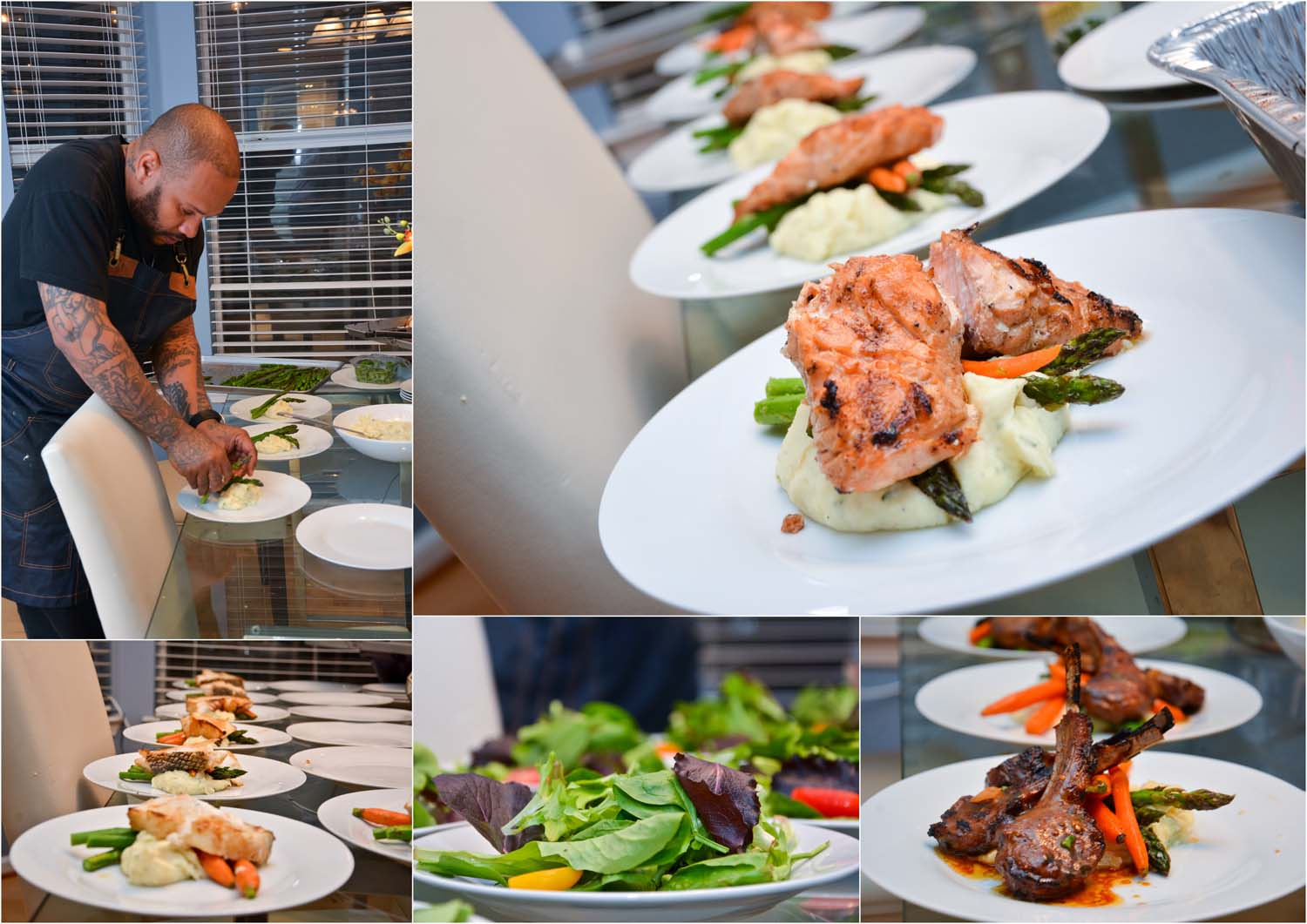 Check out the private Chef Aleem in action to learn more about the chef and his services click  here!