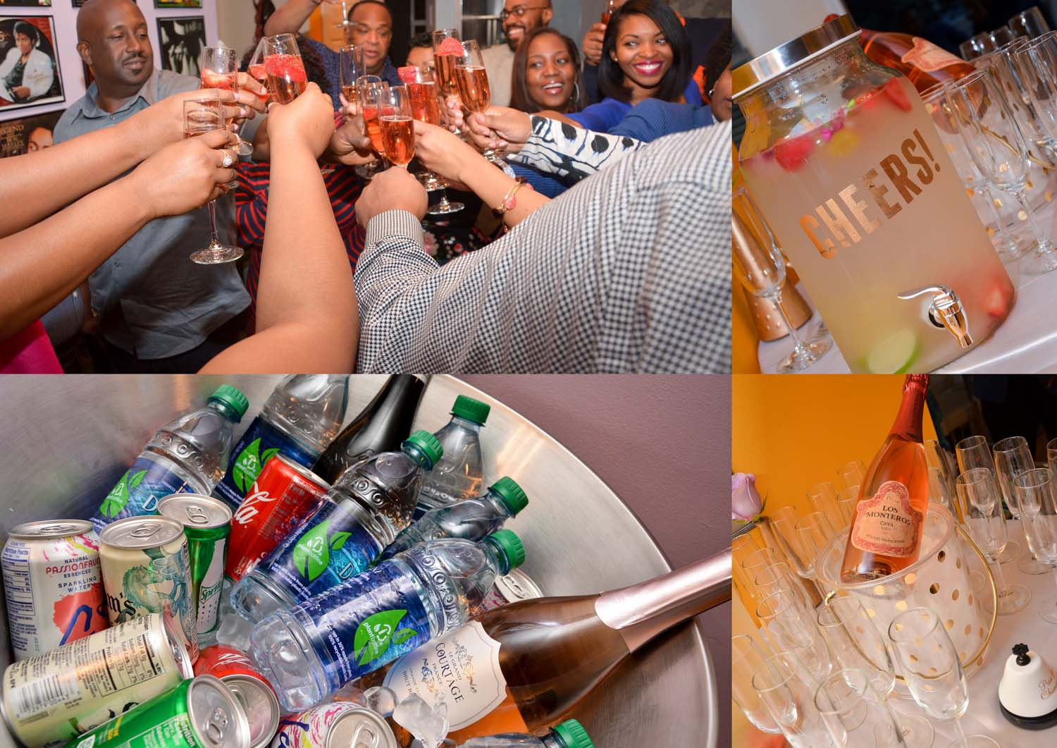 your choice of drinks and champayne for birthday toast