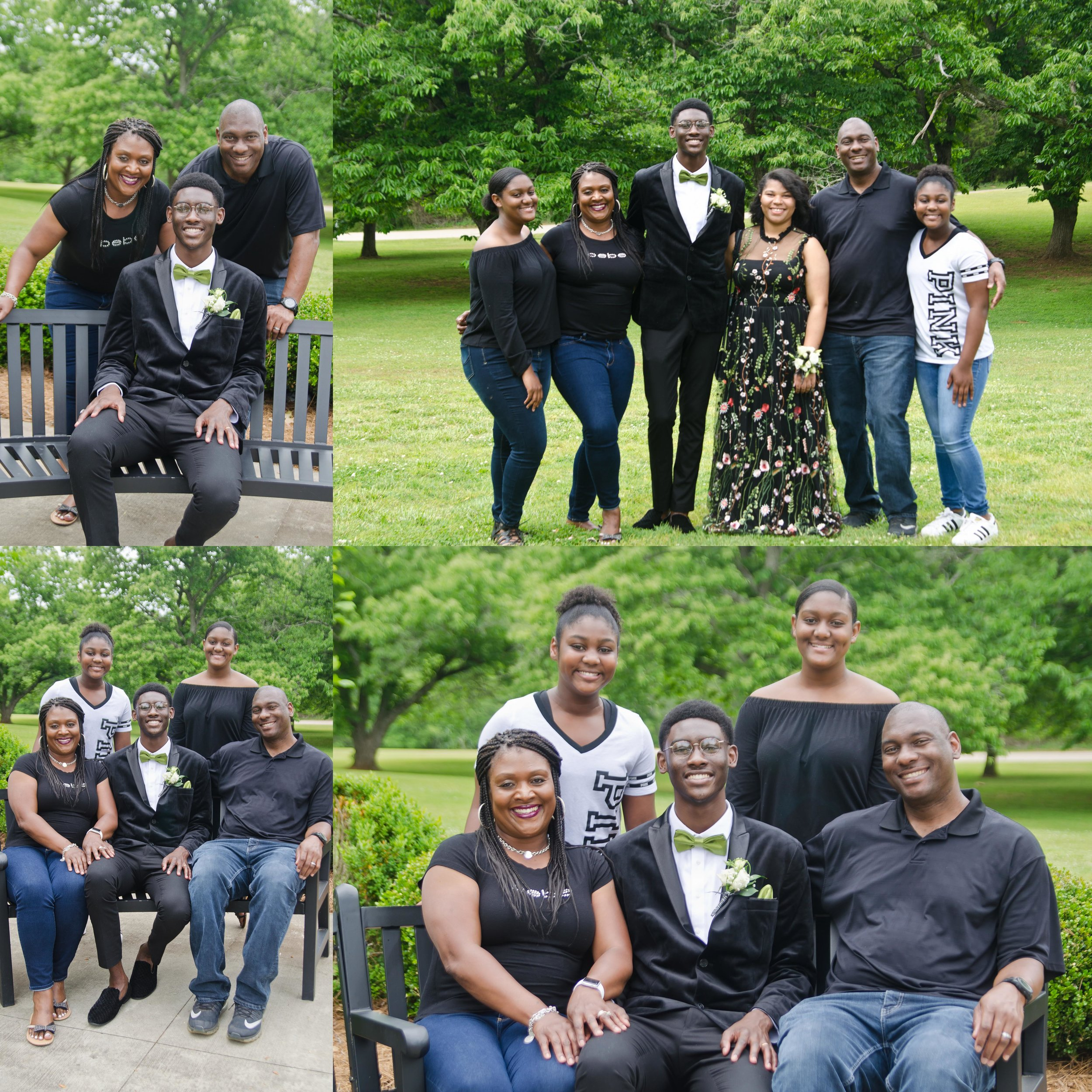Elijah's Preprom Photo Session with Family - May 2018