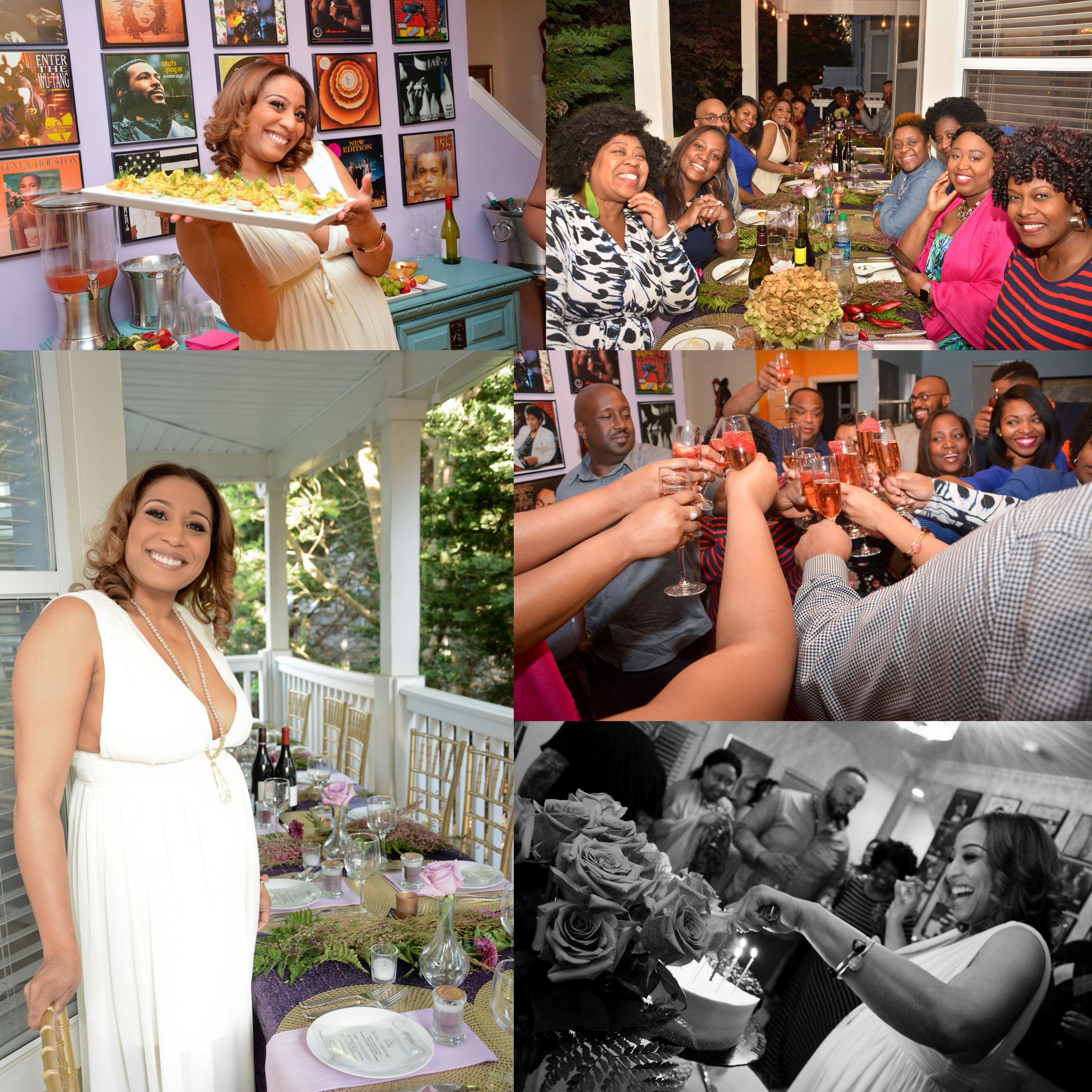 Ronda's 40th Birthday Dinner Party with Friends- April 2018
