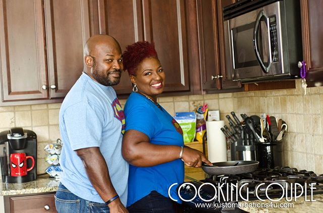 Captured: Cooking Couple!⠀ .⠀⠀ .⠀⠀ .⠀⠀ ⠀⠀ #couples #blacklove #married #happy #cooking #cookingcouples #capturedmoments #photography #snapshots #portraits #photoshoot #lifestyle #cute #photooftheday #pic #captured #lifestylephotographer #exposure #socialeventphotographer #love #portraitphotographer #non #funclicks #atlantaphotographer #kustomkreations #kustomkreationphotography #gokustom Contact us today: So you wanna be in pictures…. Contact us today: kustomphotos4u@gmail.com or 770.272.2420