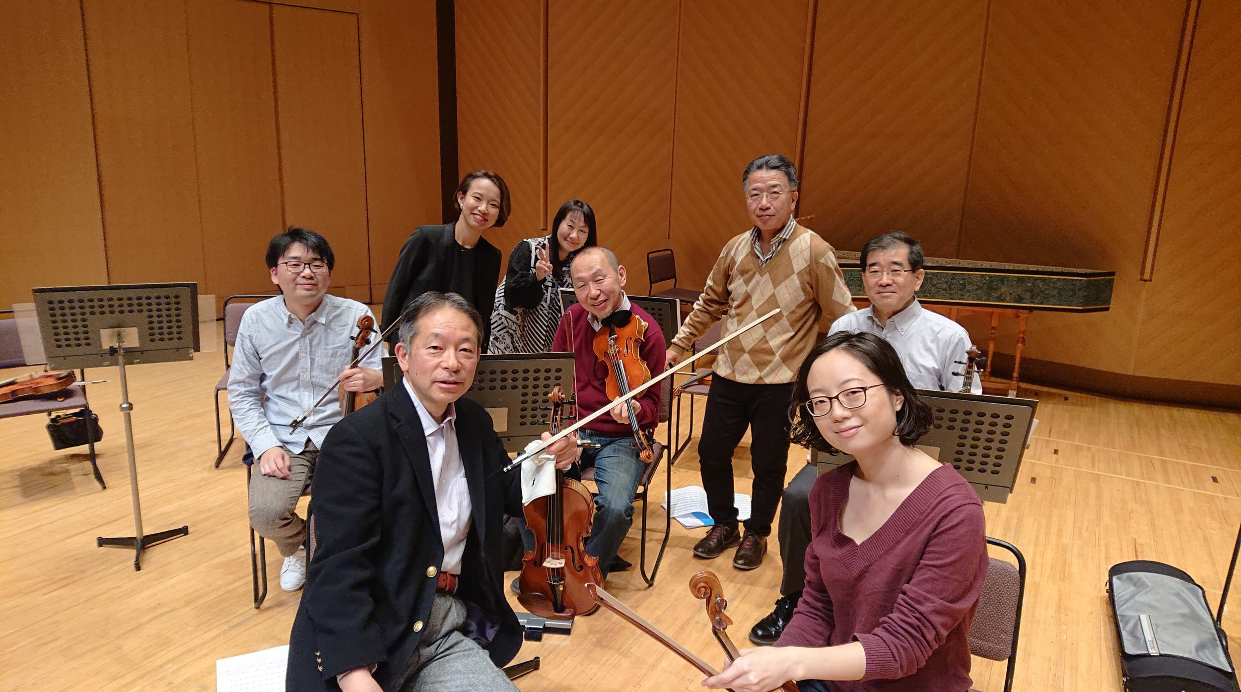 2nd violin section