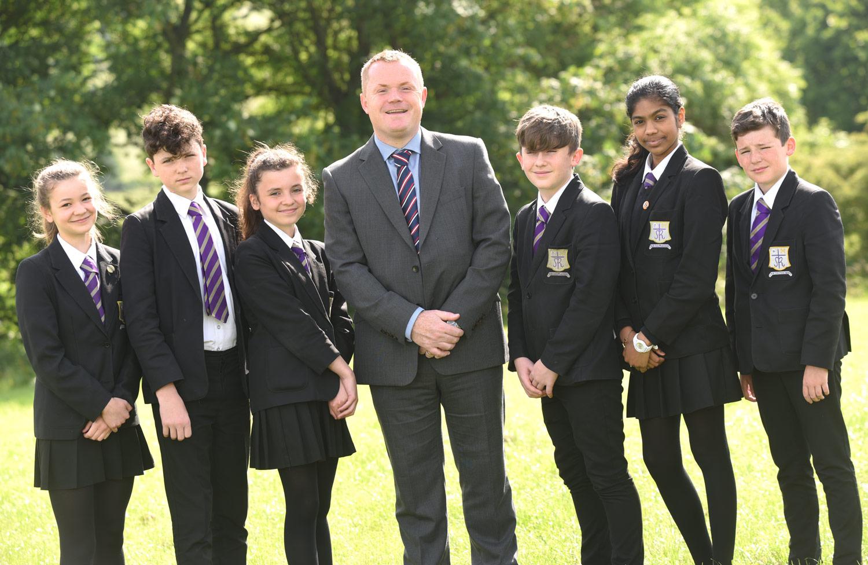 Photo: Mr Beardsley with students, June 2017