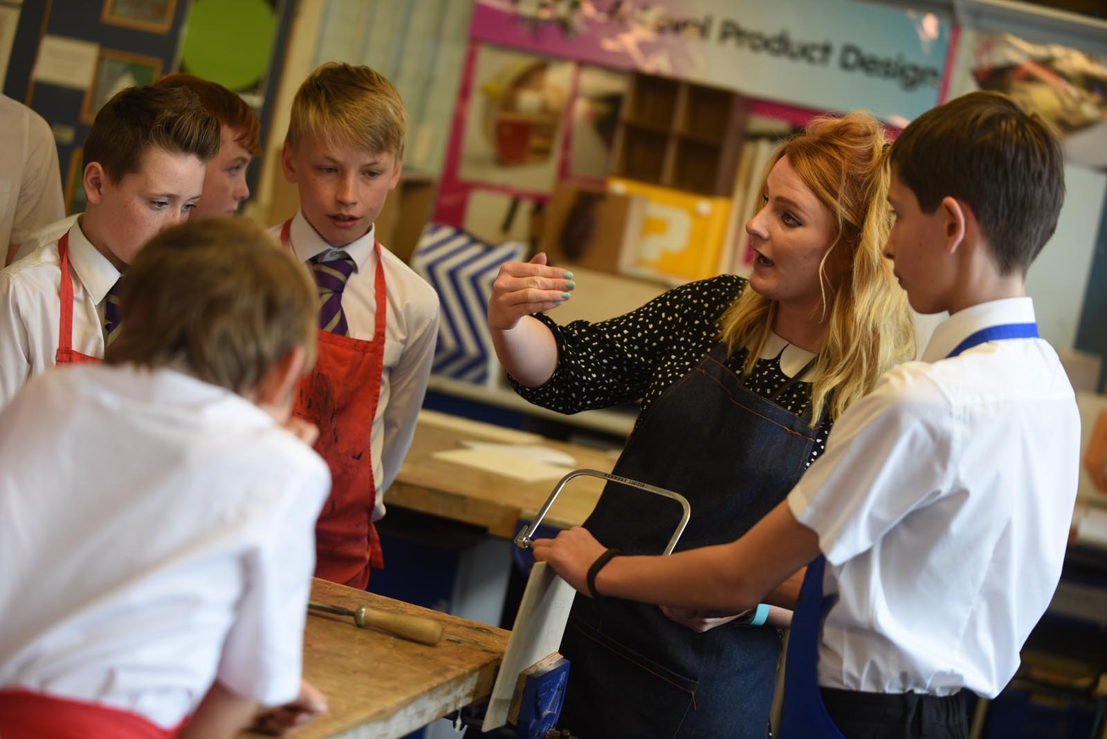 Product Design lesson, trainee teacher at St. Mary's Menston