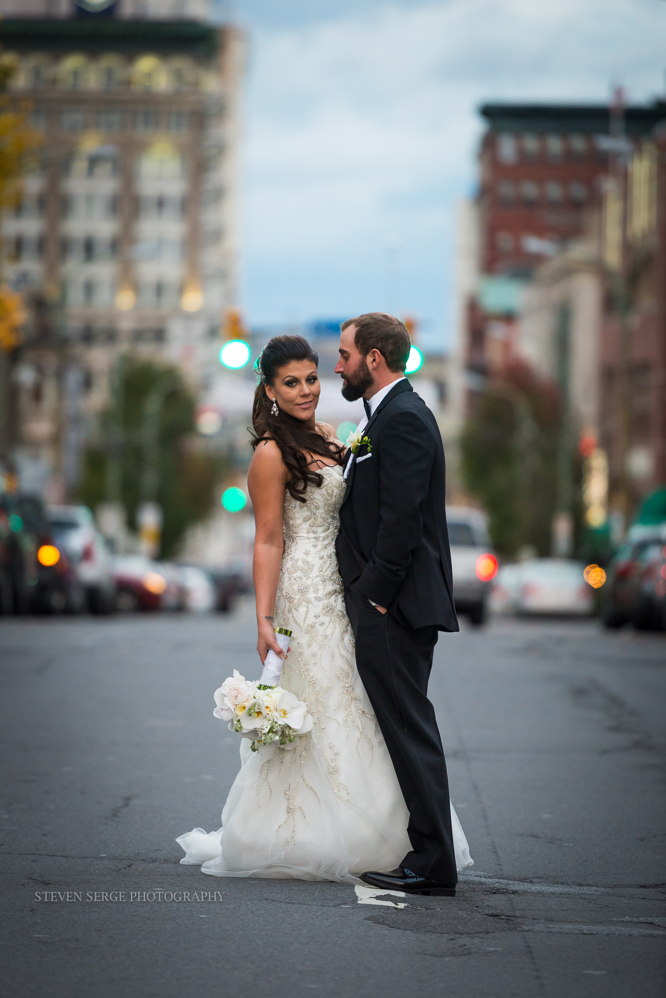 Bride and Groom Wedding Fashion in Scranton