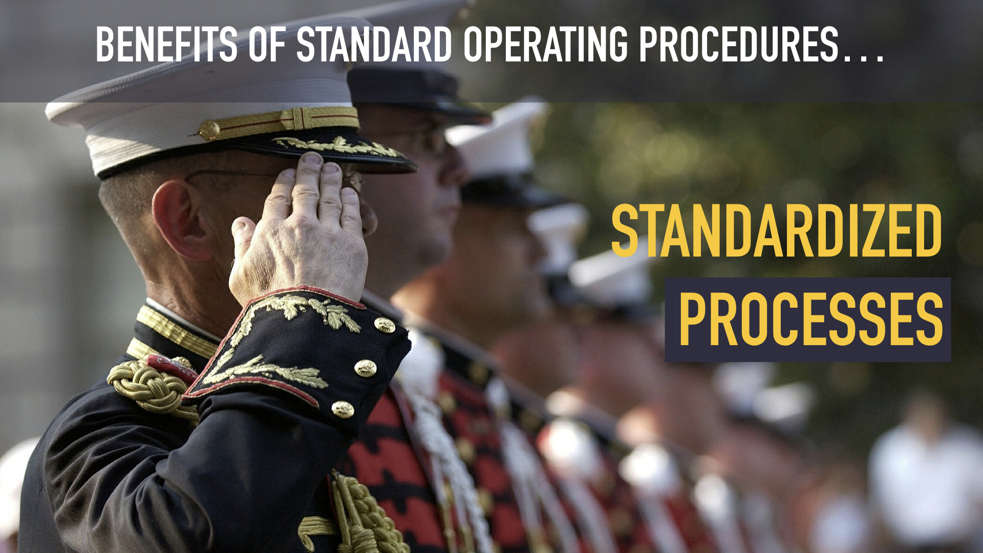 Standardized Processes - The cornerstone of a resilient organization is well-defined procedures. Every function in the organization should be written down in standard operating procedures.  Creating an Action Plan for your business processes supercharges your SOPs to be an engine of excellence in your organization.
