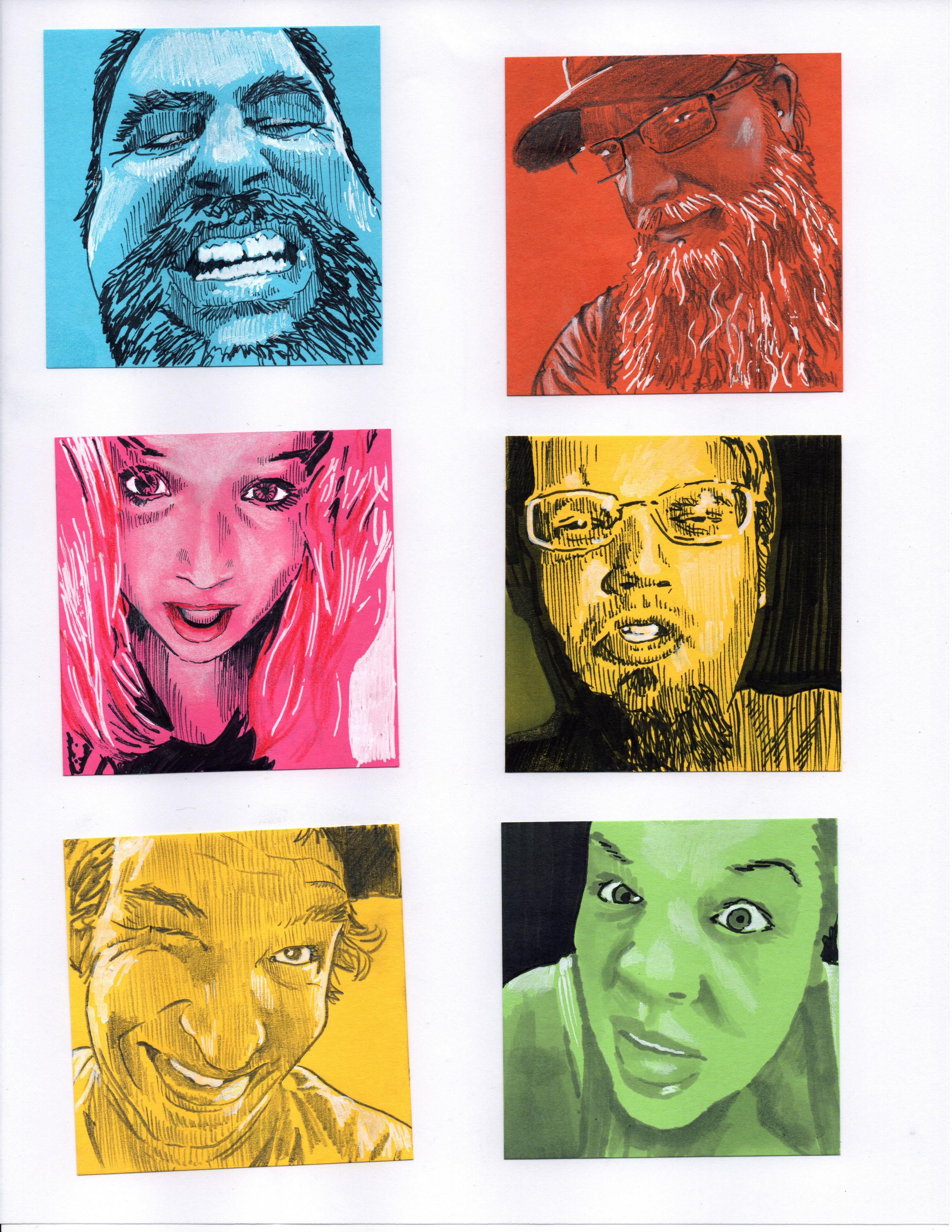 Post-It Portraits