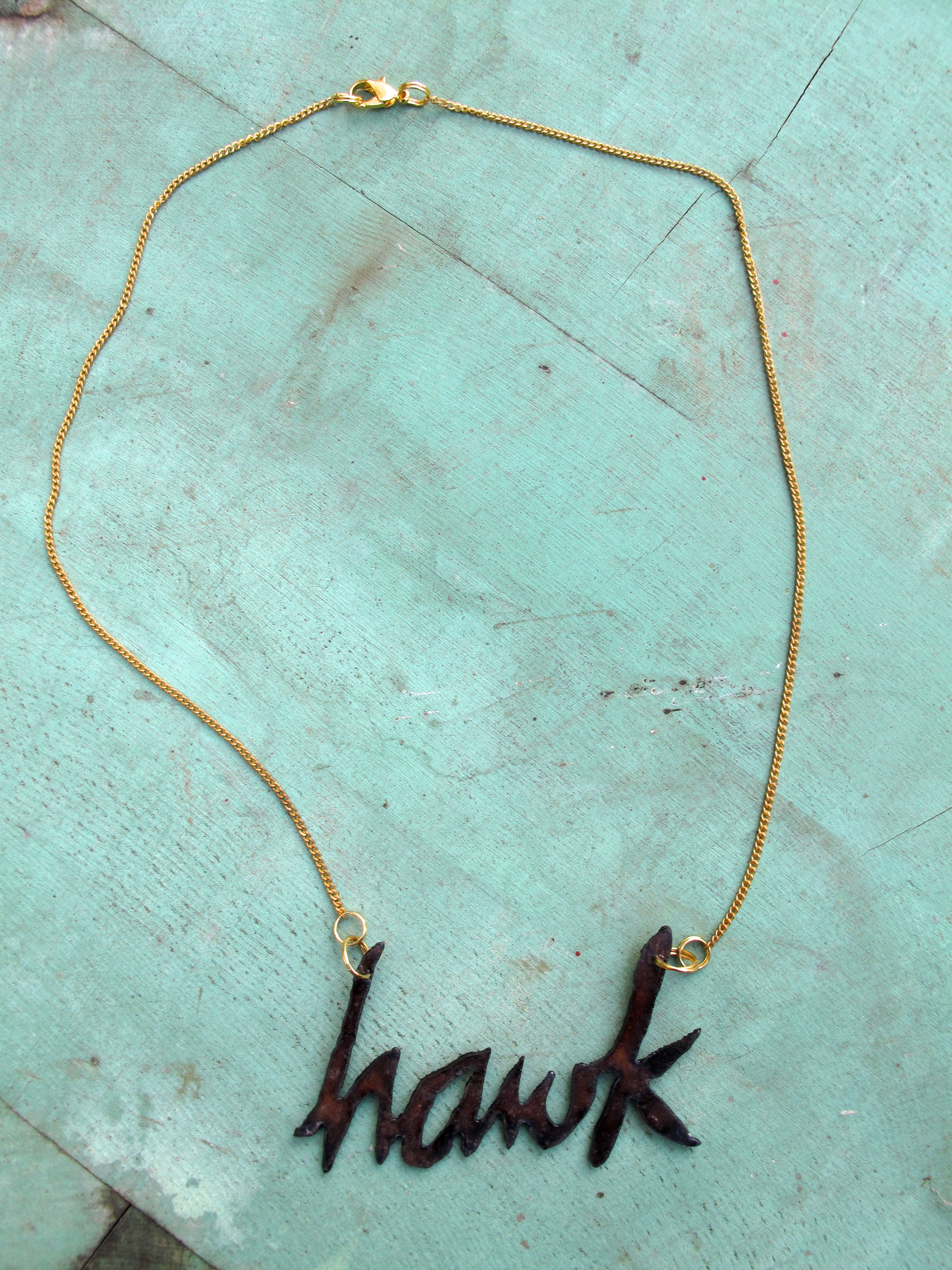 Hawk necklace. Plasma cut steel. *contact us if you want customized bling