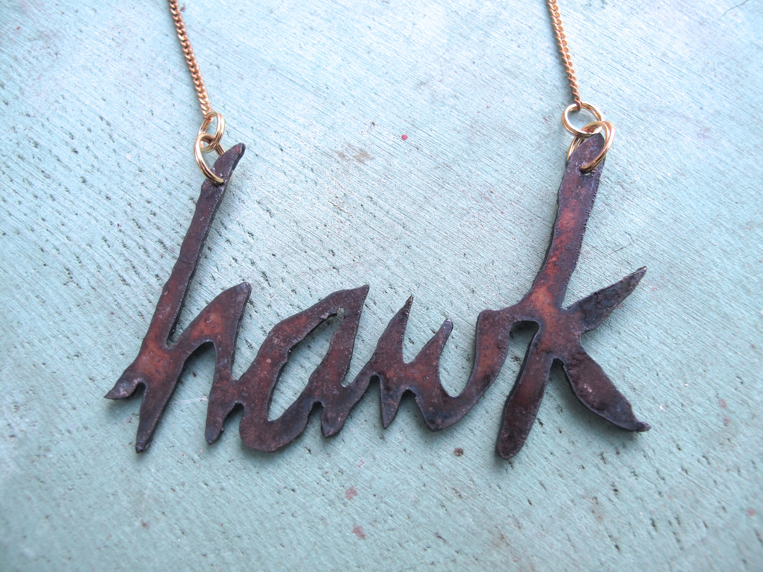 hawk necklace (detail)