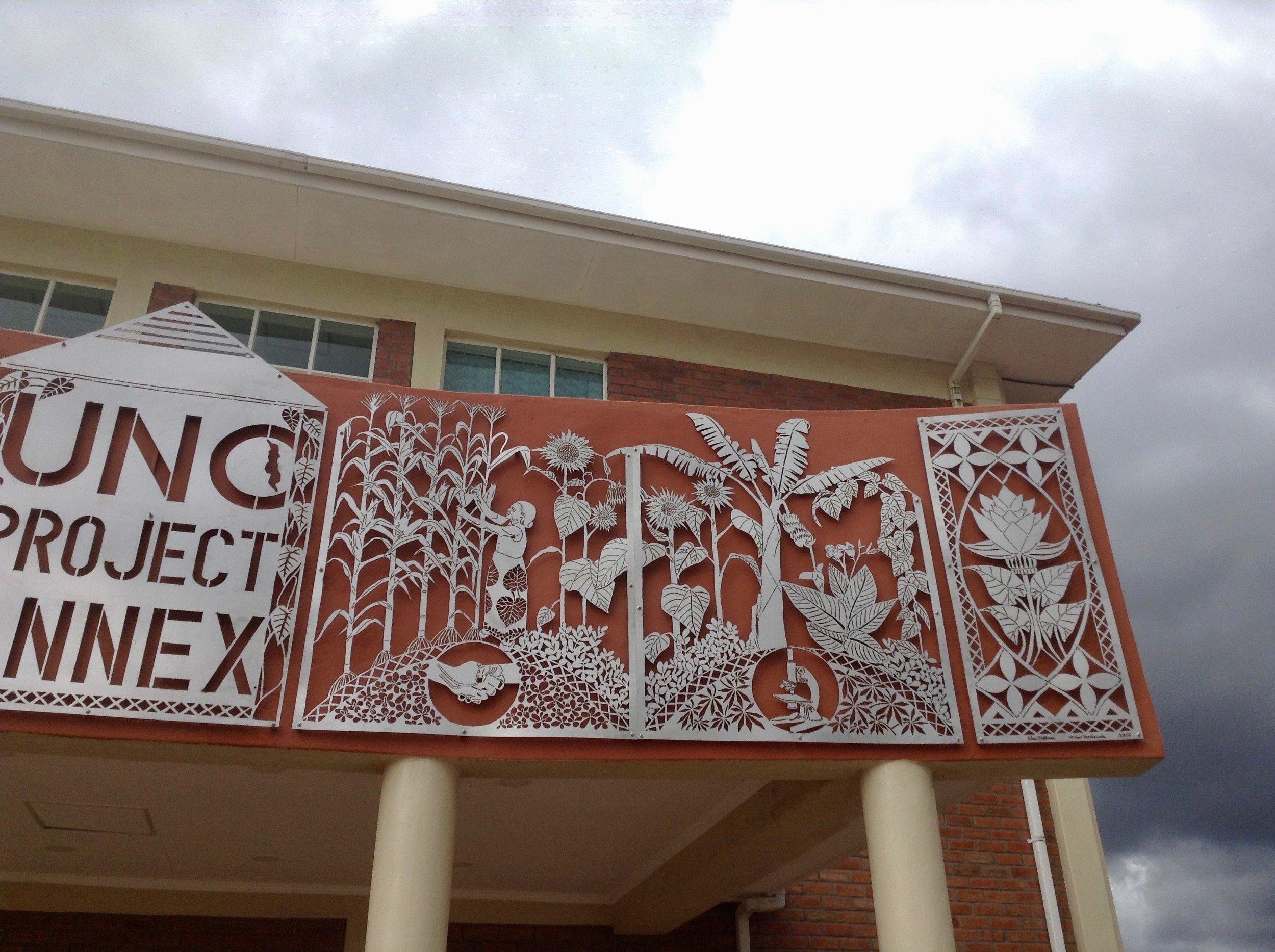 UNC Project Annex sign (detail)