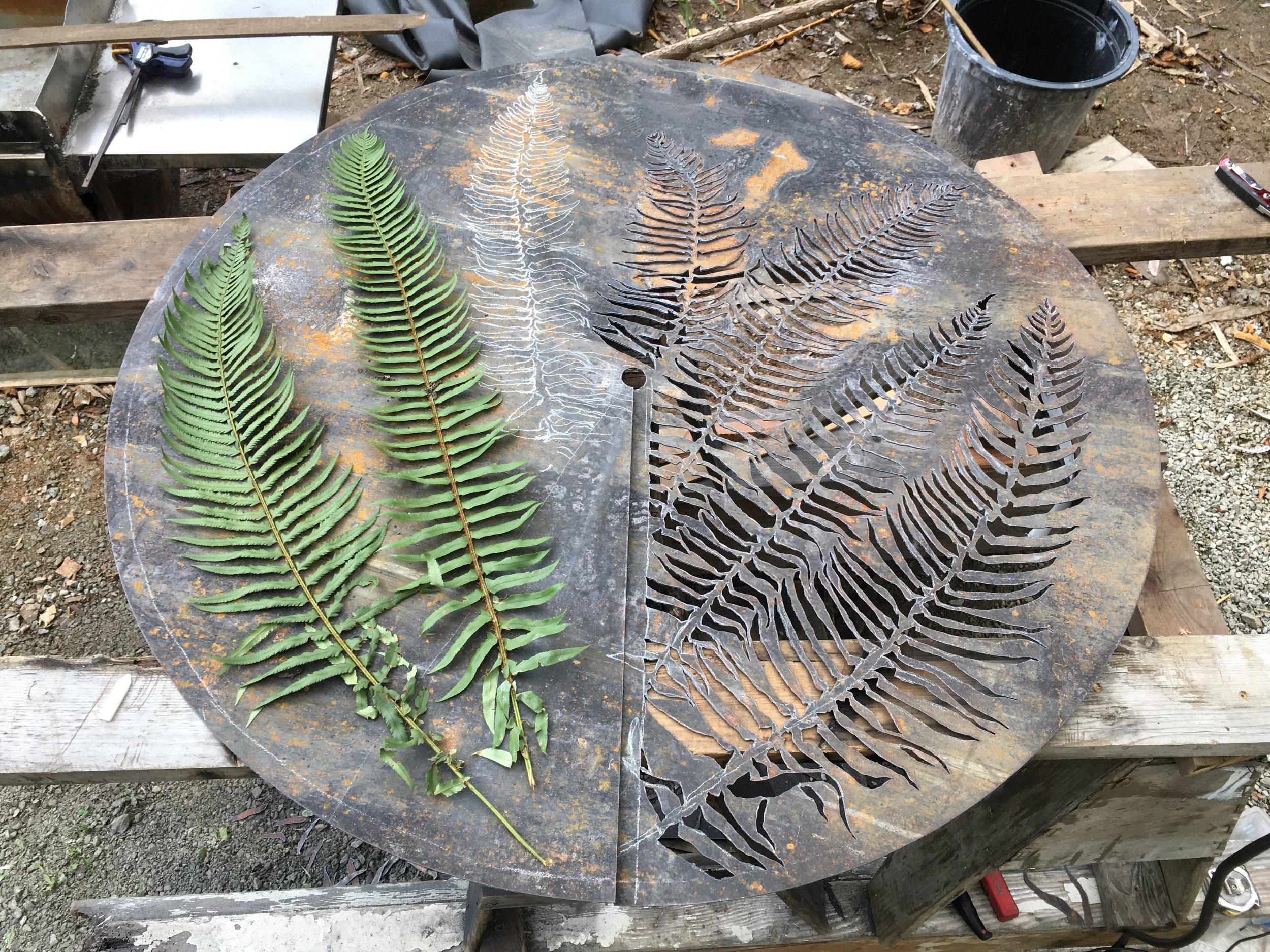 fern sconce (in process)