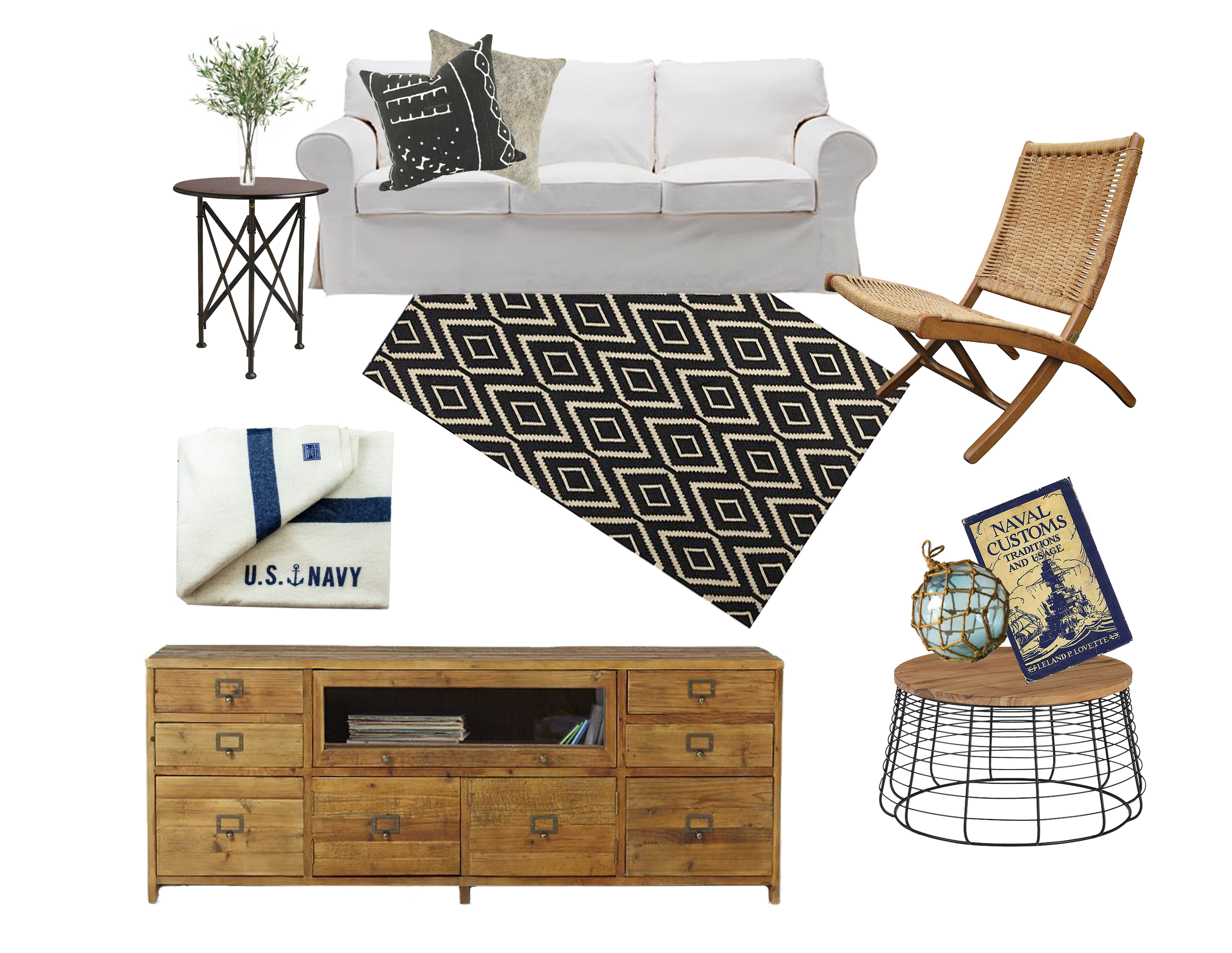 Side Table  // Couch (already owned- similar ) //  Pillow 1  //  Pillow 2  //  Side Chair  //  Rug  //  Blanket  //  Coffee Table  //  Console