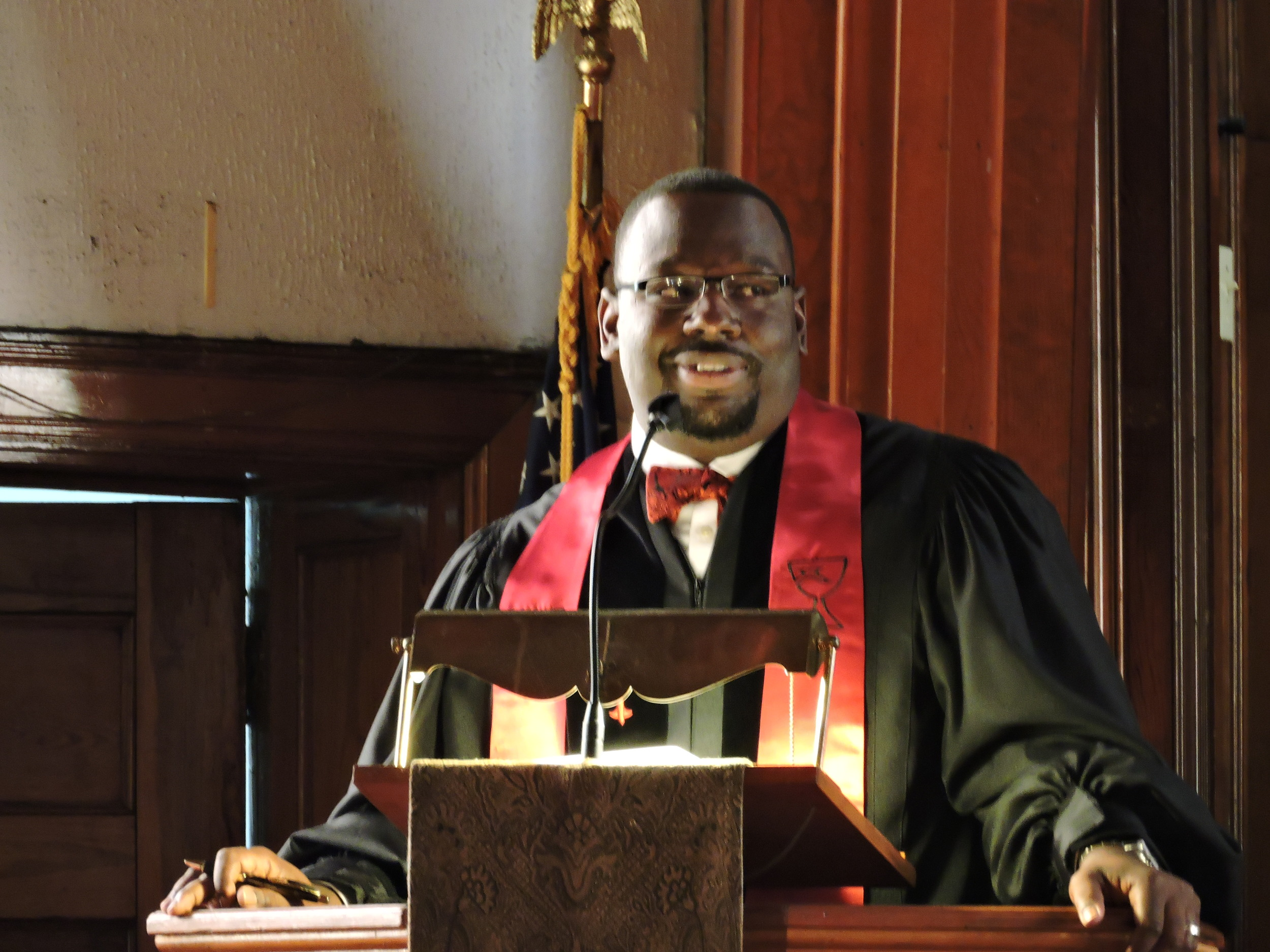 Host pastor of Centennial Christian Church Rev. Derrick Perkins