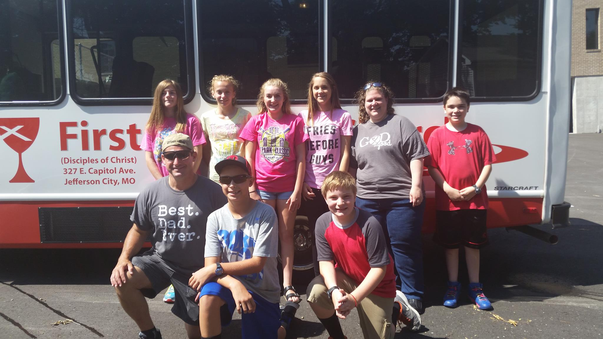 The group from FCC in Jefferson City sets out on their adventure!