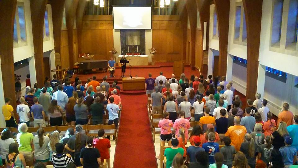 Tuesday evening worship at WGCC where Jeff Moore spoke and showed the  BBC's Delmar Divide  video.