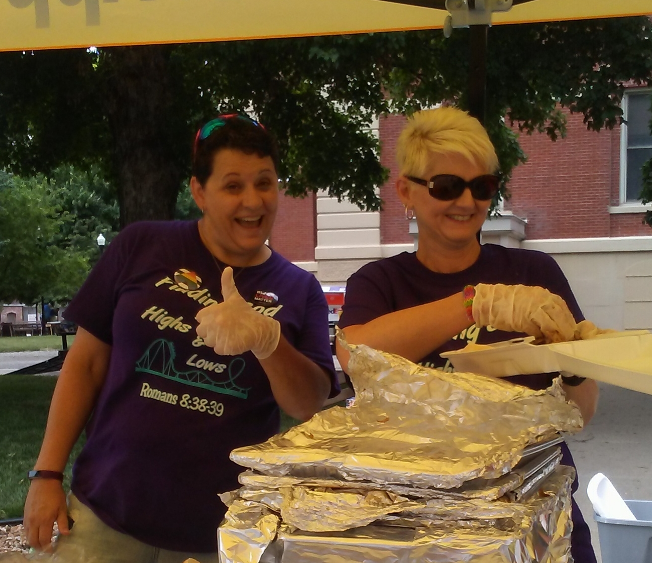 Kris Milliron &Glen Clemens are also helping at this Saline County BBQ lunch service.