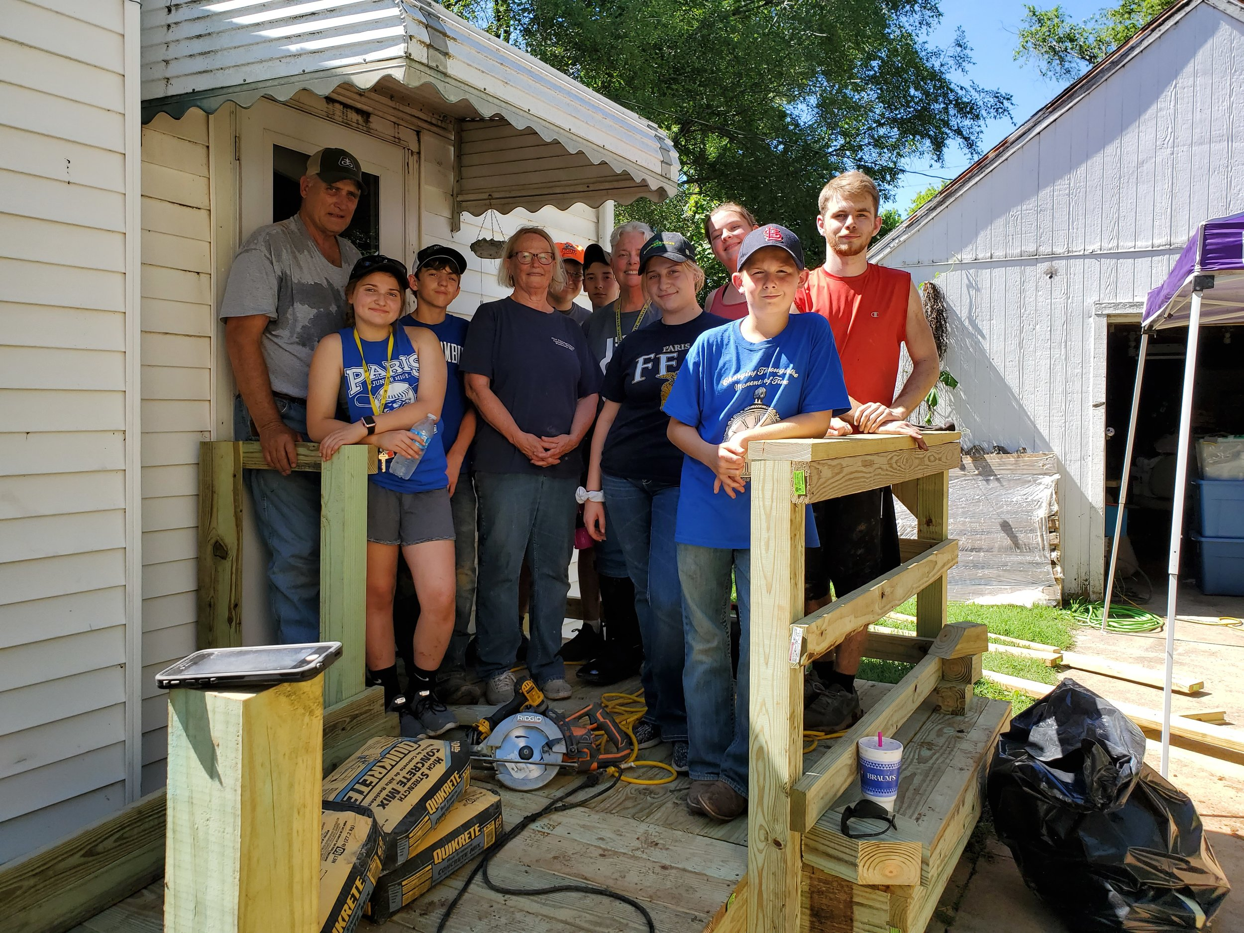 The Granville crew built this wheelchair ramp for Services for Independent Living.