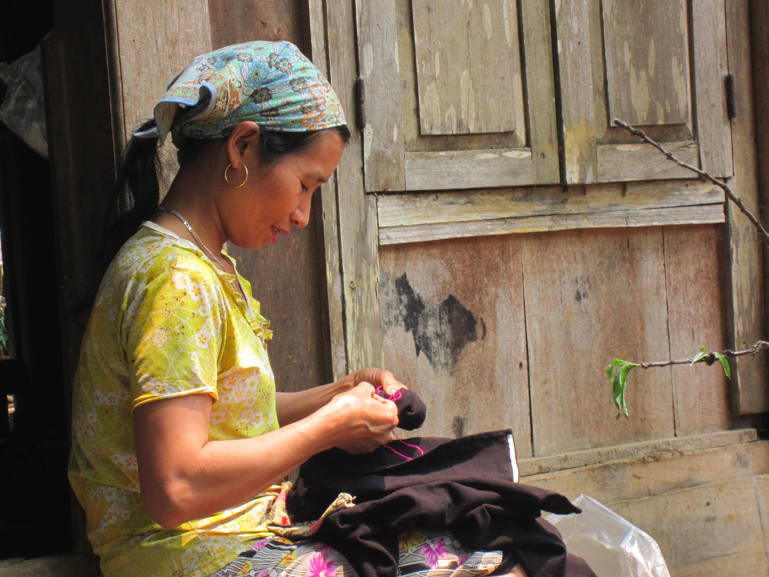 Sewing time - Mai Chau, Vietnam