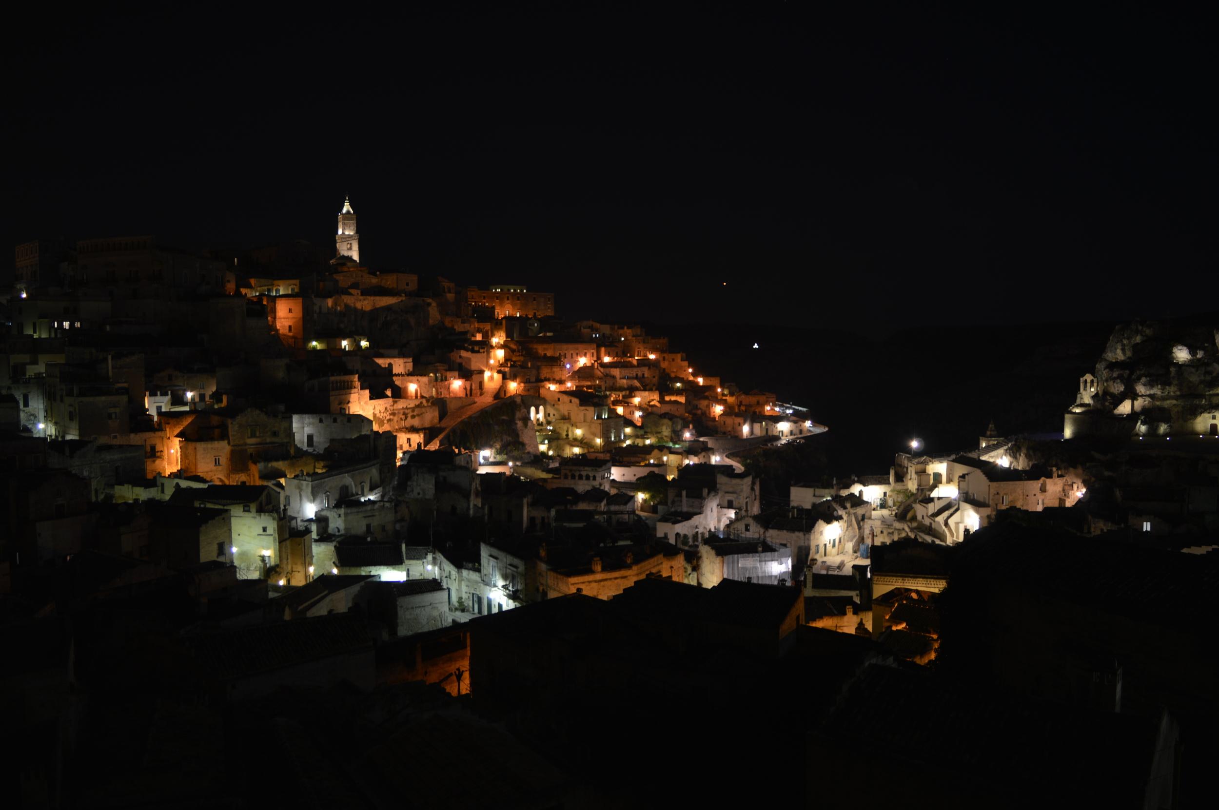 Matera at night - Matera. Italy