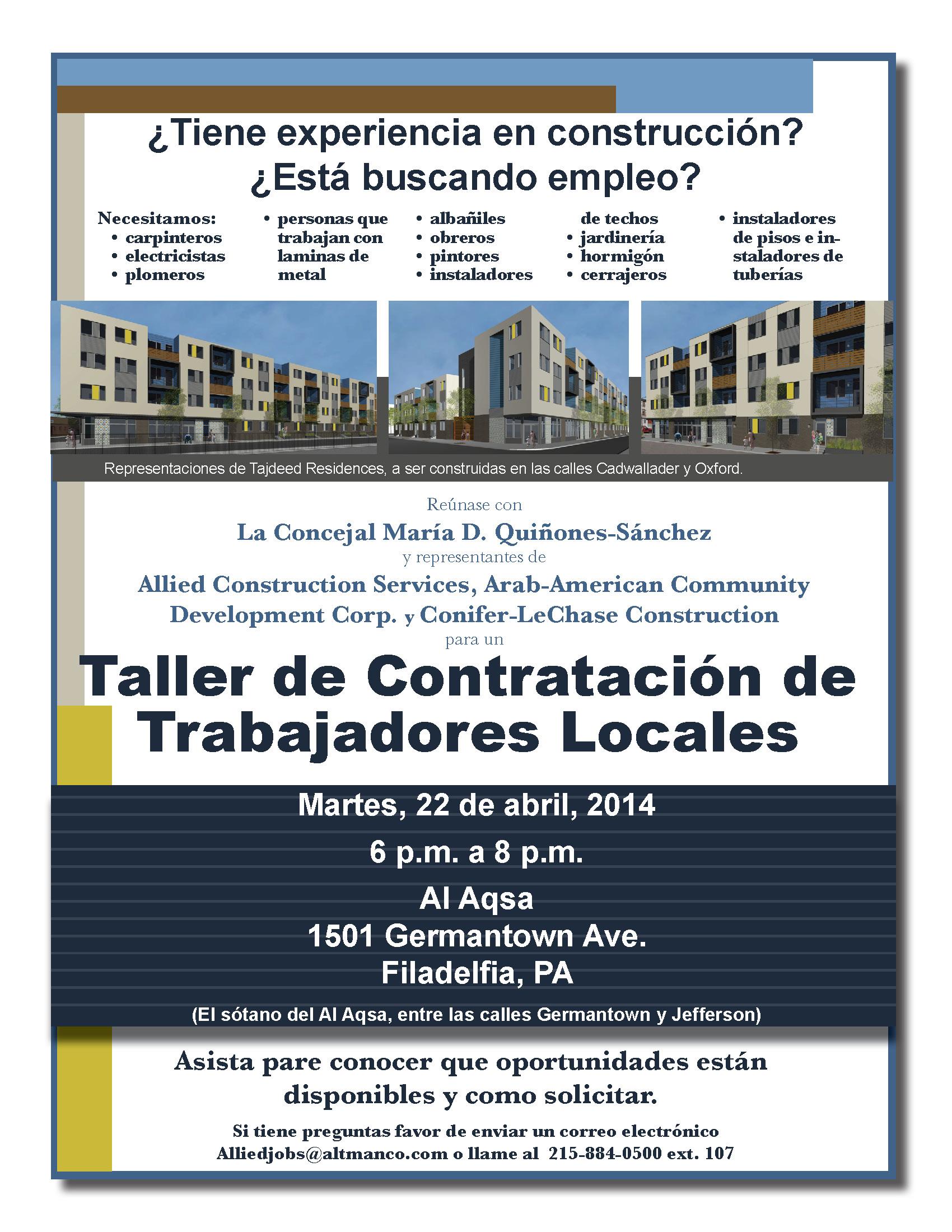 Tajdeed job flyer_Spanish