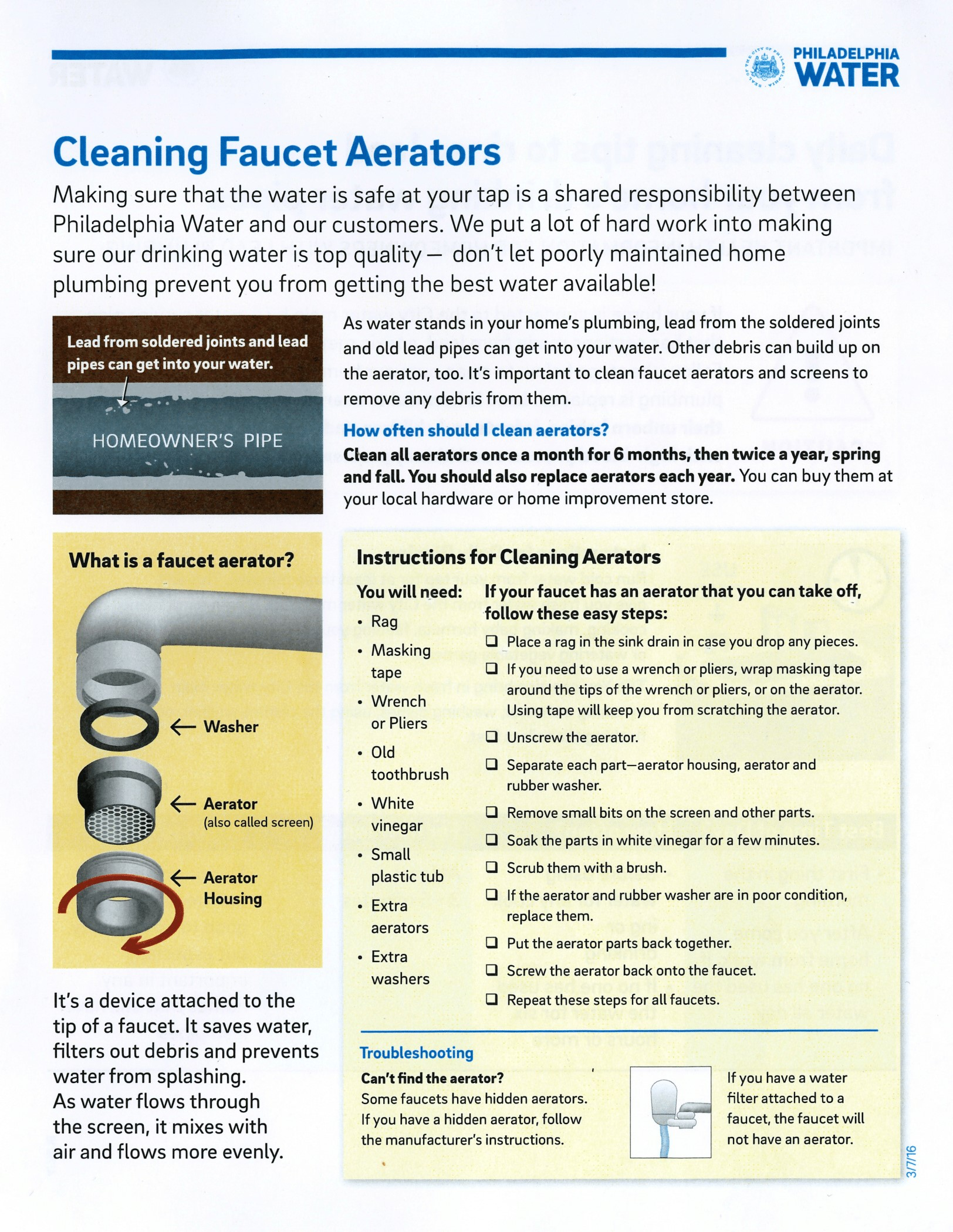 Tips Cleaning Faucet Aerators South Kensington Community Partners