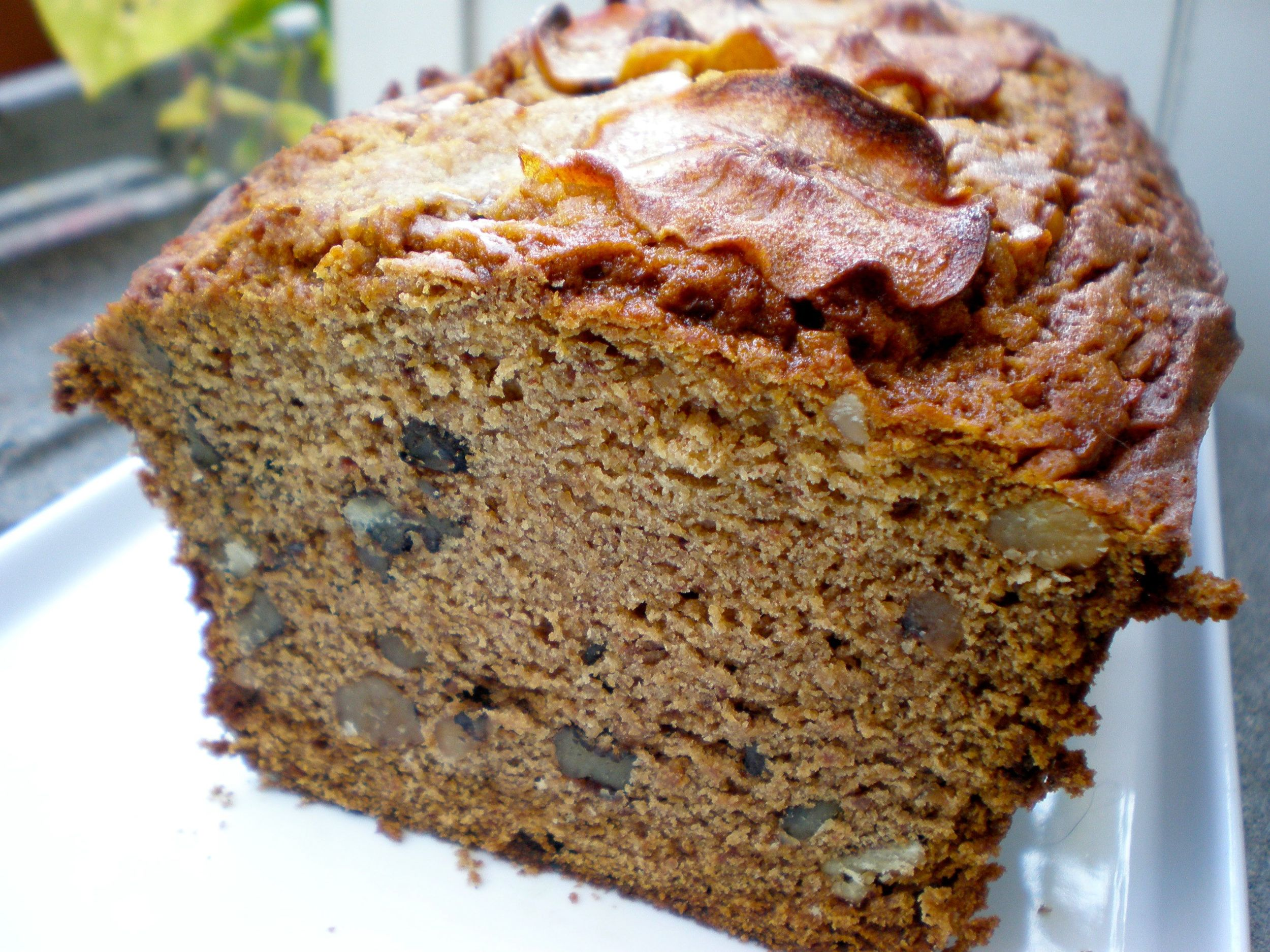 Persimmon bread loaf