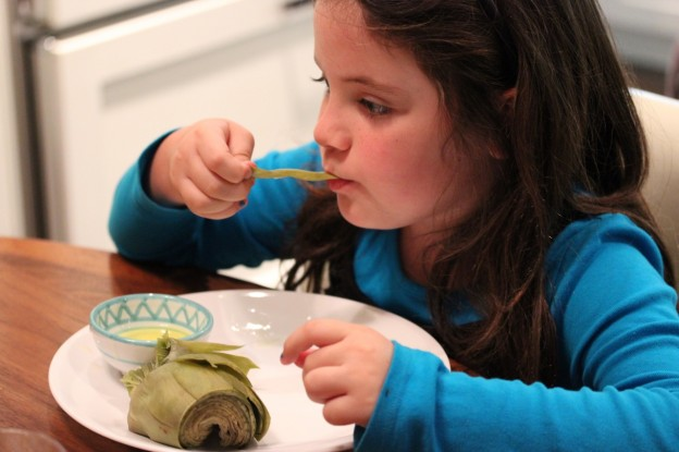 child eating artichokes yourfoodstory.com