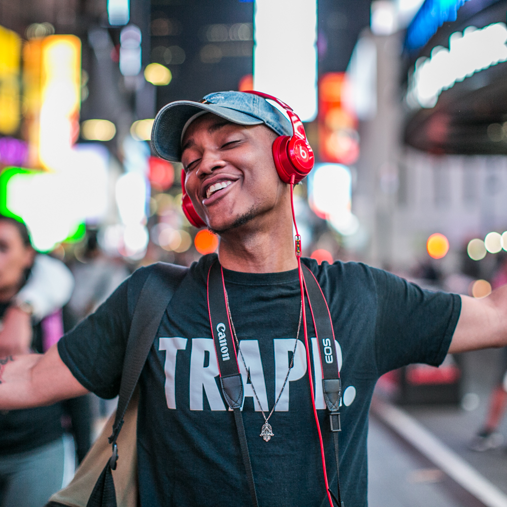 """New York is like a boiled egg. Hard on the outside, soft on the inside. I swiped some guy in. He thanked me. He didn't just take the swipe and go. I wasn't expecting that. I didn't do it for that. That feels good."" Devante, Times Square"