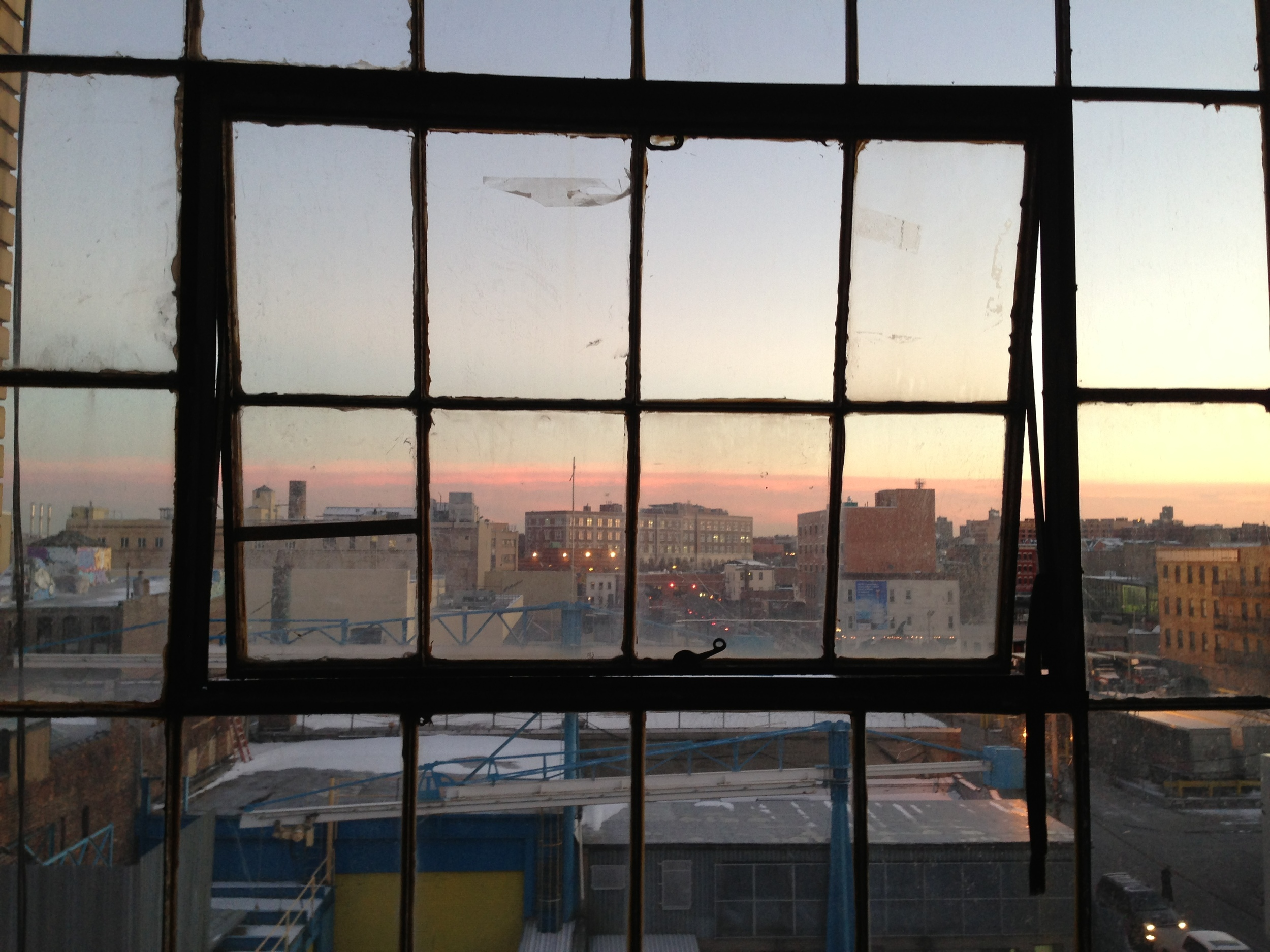 Studio view from Bushwick, Brooklyn