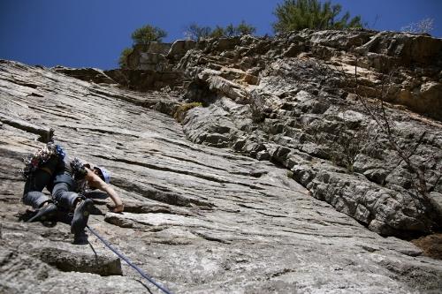 My first lead climb in the Gunks, Arrow (5.8). Photographs byJindaPhommavongsa