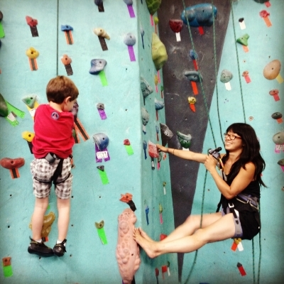 My kids climbing the walls. Better than them making  me  want to climb the walls!