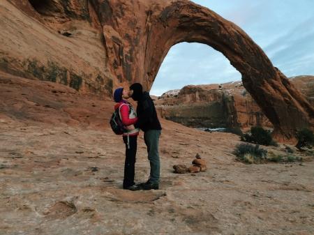Dan and Gingere sharing the magic of Moab