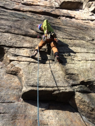 Kevin Riley making first moves on Mother's Day (5.10b)