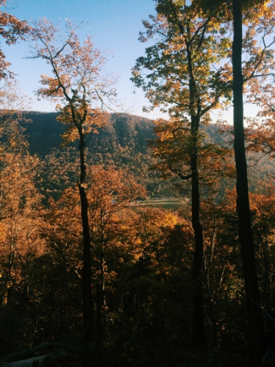 A perfect autumn day at Tennessee Wall