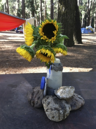 A big life consists of mostly simple things…birthday sunflowers in Yosemite last year