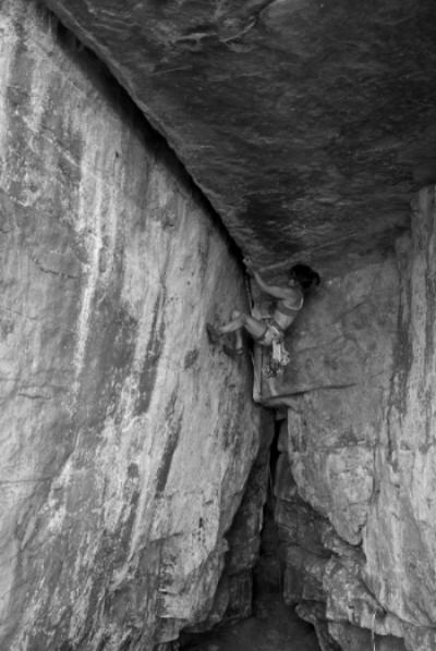 Begin the traverse. Photograph by Nick Lanphier