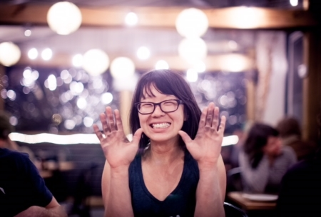These are what (my) happy hands look like. My happy face, too. Photograph by Peter Hoang